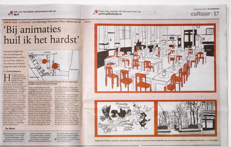 Newspaper article in De Gelderlander (in Dutch)